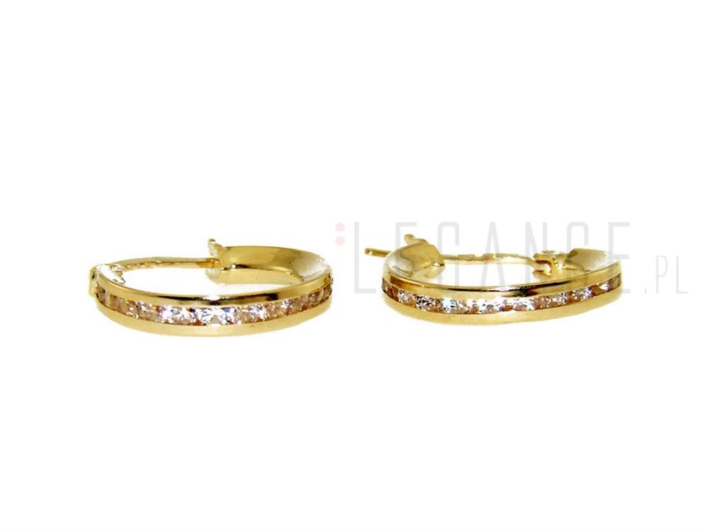 e02c62c2c80061 Kolczyki złote kółeczka z cyrkoniami YES VERONA - sklep Legance.pl