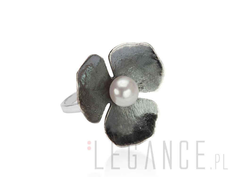 Sklep: verona pierścionek kwiat z perłą yes verona