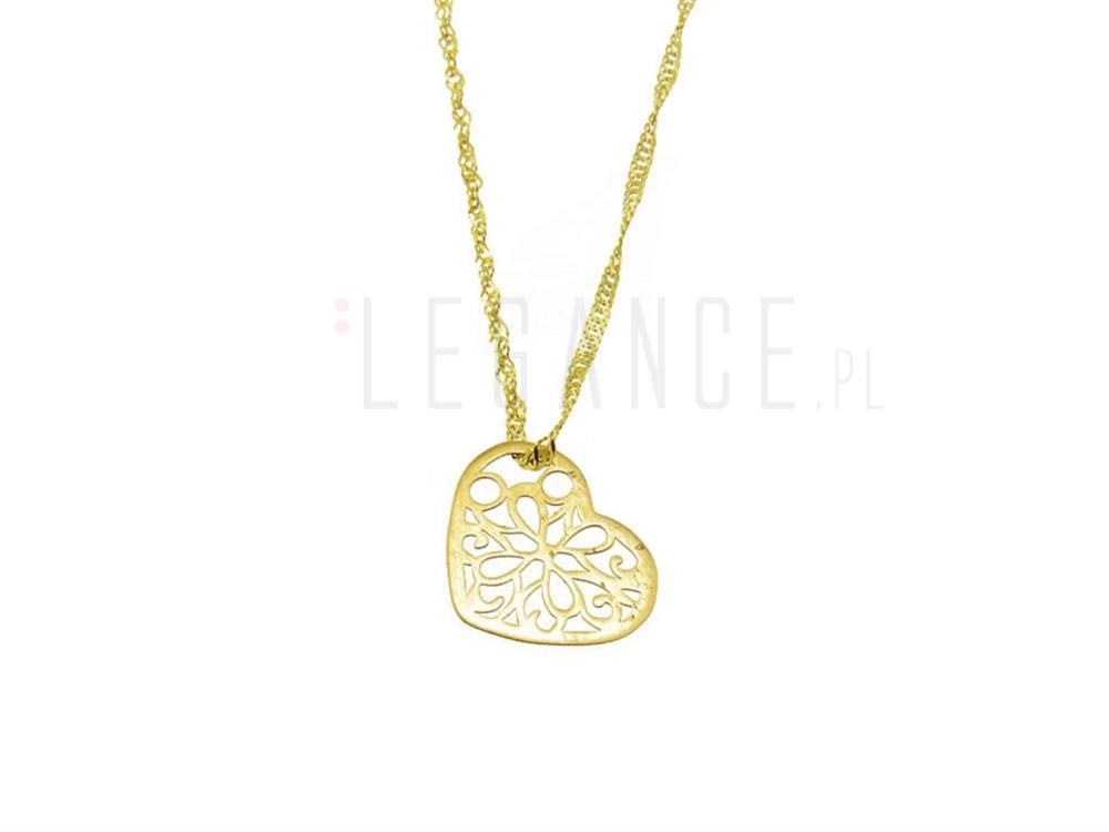 64228cfb8ae010 Złoty łańcuszek z ażurowym sercem celebrytka YES VERONA - sklep ...
