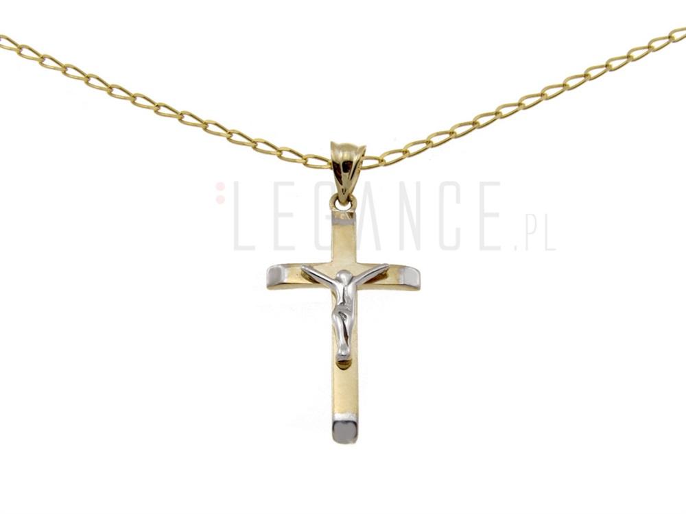 cfef6cf4b10846 Złoty łańcuszek z krzyżykiem YES VERONA - sklep Legance.pl