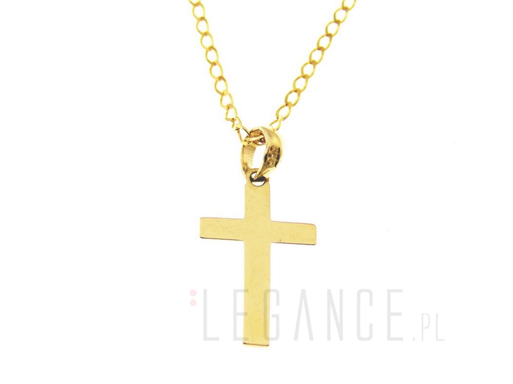 19aaf714eada0c ... Złoty łańcuszek z krzyżykiem VERONA - YES. Naszyjnik ...