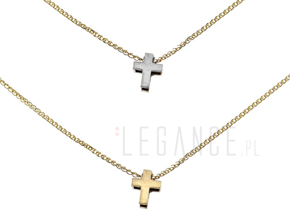 193d290b86a0ea Złoty naszyjnik otwierany krzyżyk YES VERONA - sklep Legance.pl