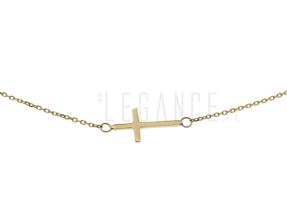 137bf57684383d Złoty naszyjnik z krzyżykiem celebrytki YES VERONA - sklep Legance.pl