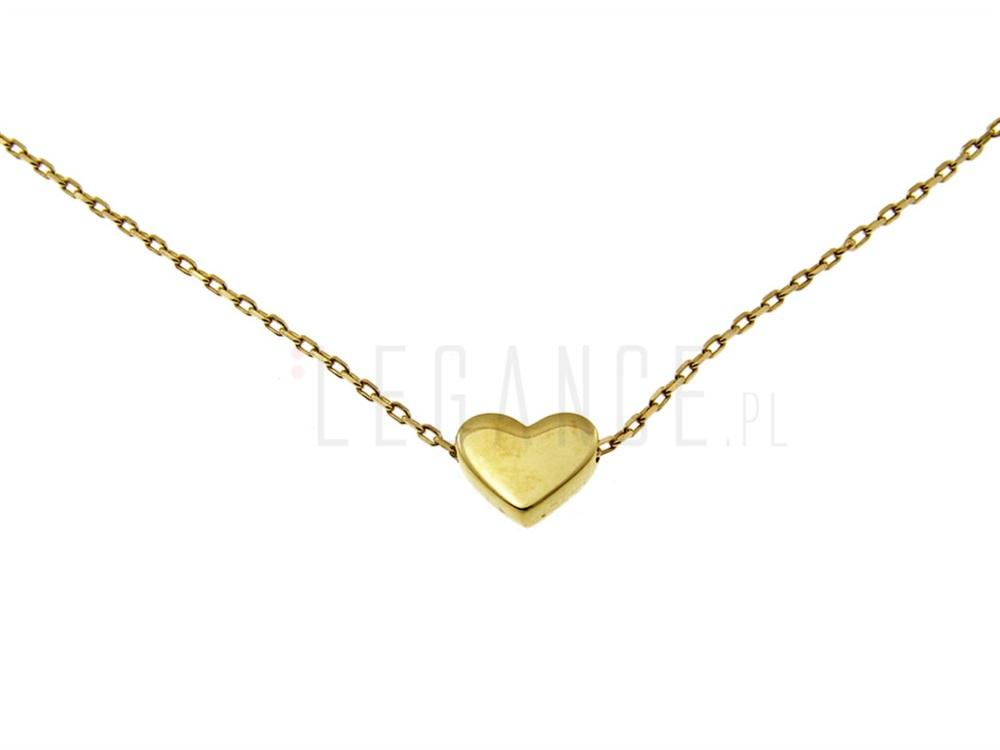 e1c913d08b6698 Złoty naszyjnik złote serce Amelia celebrytka YES VERONA - sklep ...